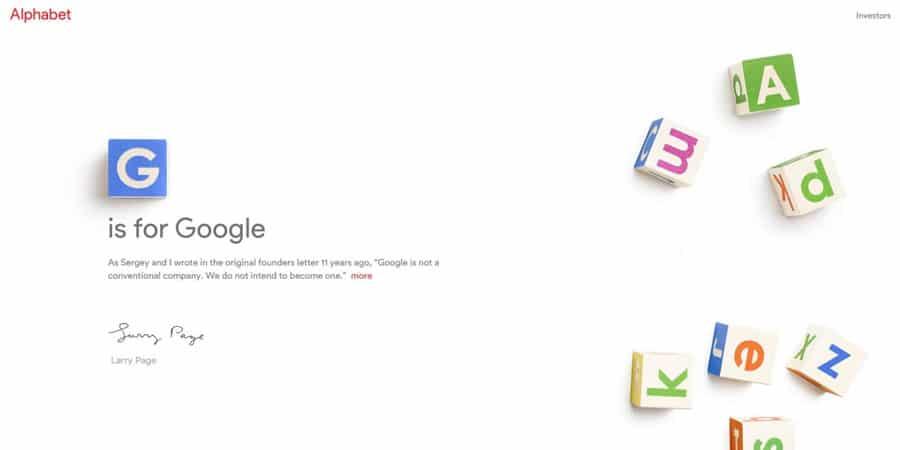 Google Yeniden Yapılanıyor, Alfabe Karşınızda!