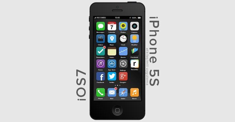 Etkileşimli iPhone 5S ve iOS7 Konsepti