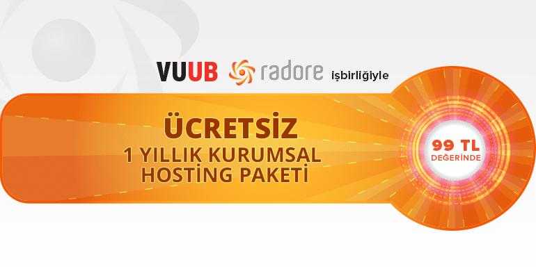 Radore ve VUUB işbirliği ile Kurumsal Hosting çekiliş fırsatı!