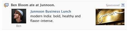 Facebook'da Paylaşılan Reklam