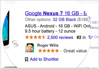 Google'da Paylaşılan Reklam
