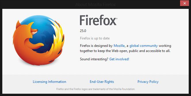 Firefox 25 Yayınlandı