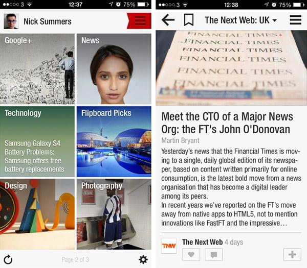 Flipboard - iPhone Uygulaması
