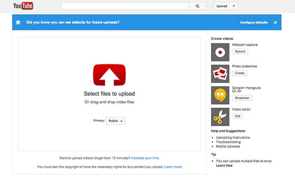 Yeni Başlayanlar için YouTube Klavuzu - Video Yükleme Ekranı