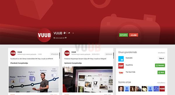 Google+ Profil Ekranı