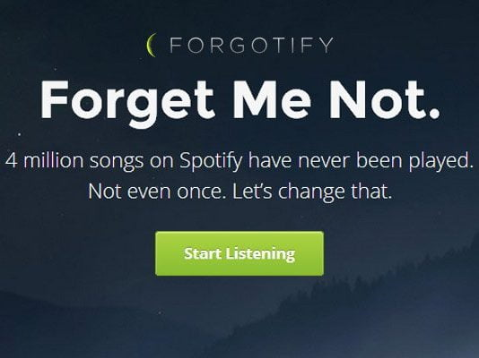 Forgotify'ı Denediniz Mi?