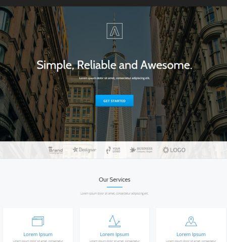 Parallax One - WordPress Teması