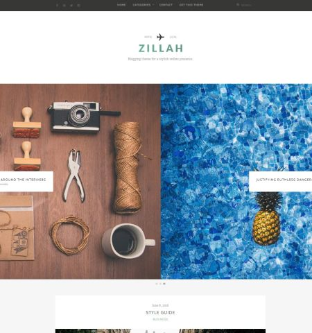 Zillah - WordPress Teması