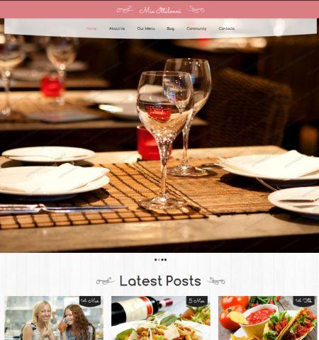 Restaurant Theme - WordPress Teması