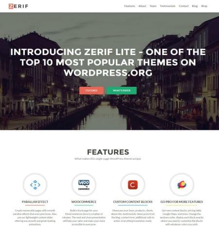 Zerif Lite - WordPress Teması