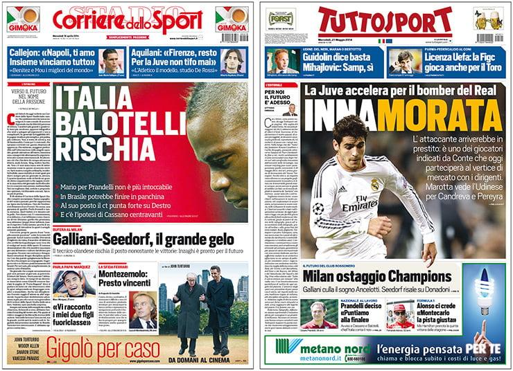 Corriere dello Sport ve Tutto Sport
